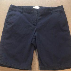 Navy Bermuda shorts